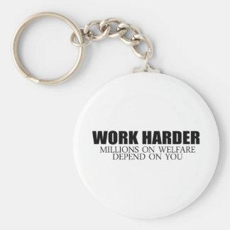 Arbeiten Sie schwerer, weil Millionen auf Schlüsselanhänger