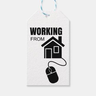 Arbeiten vom Zuhause Geschenkanhänger