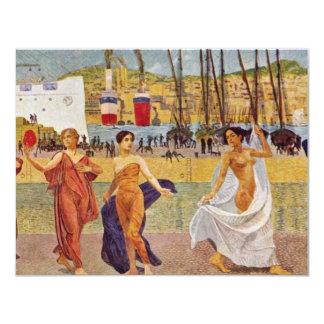 Arbeiten-Wohlstand-Schönheit Detail durch Klinger, 10,8 X 14 Cm Einladungskarte