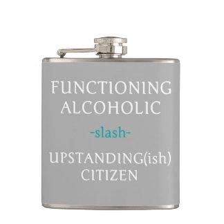 Arbeitende alkoholische Flasche (grau)
