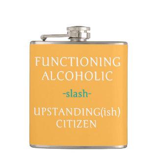 Arbeitende alkoholische Flasche (orange)