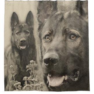 Arbeitender Schäferhund-Hund - GSD Duschvorhang