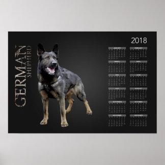 Arbeitender Schäferhund-Hund - GSD Kalender 2018 Poster