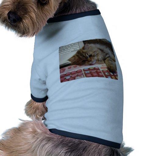 Arbeitet für eine Katzenminze Haustier T-shirts