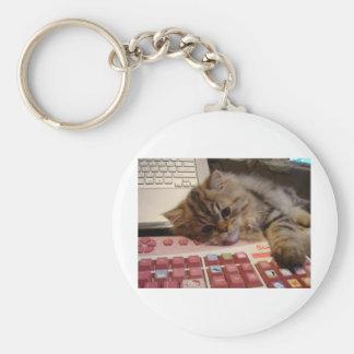 Arbeitet für eine Katzenminze Schlüsselanhänger