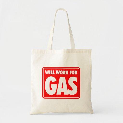 Arbeitet für Gas Tragetasche