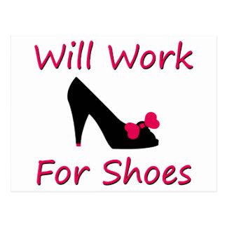 Arbeitet für Schuhe Postkarten