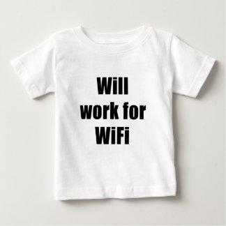 Arbeitet für WIfi Baby T-shirt