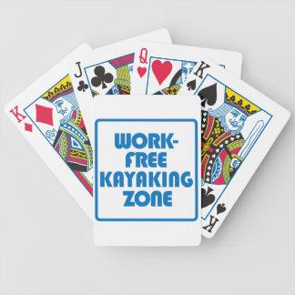 Arbeits-freie Kayaking Zone Bicycle Spielkarten