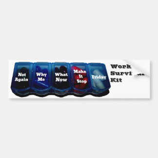 Arbeits-Woche/Platz-Überlebensausrüstung Autoaufkleber