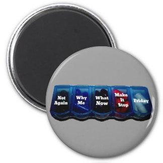Arbeits-Woche/Platz-Überlebensausrüstung Kühlschrankmagnet
