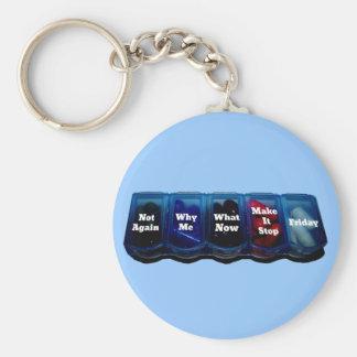 Arbeits-Woche/Platz-Überlebensausrüstung Schlüsselanhänger