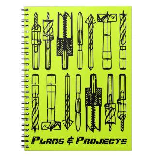 Arbeitsbuch-Projekt-Klotz: Pläne u. Projekte Spiral Notizblock