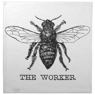 Arbeitskraft-Bienen-Hummel-Vintages motivierend Stoffserviette