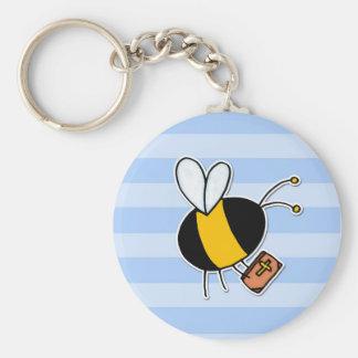 Arbeitskraftbiene - Prediger Standard Runder Schlüsselanhänger