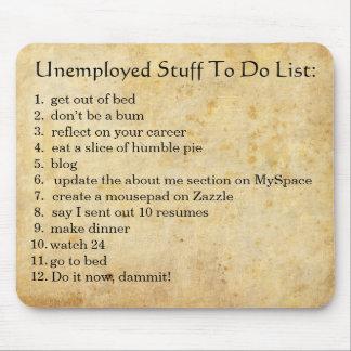 Arbeitslose taten mauspads