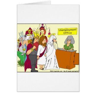 Arbeitslosigkeits-Büro Cartoon mit 339 Göttern Karte