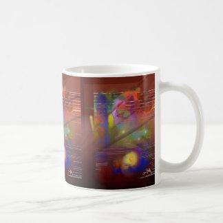 Arbeitsnächte abstrakt kaffeetasse