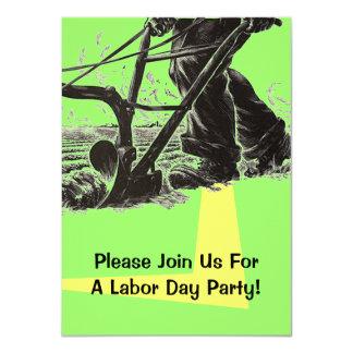 ArbeitstagesParty Einladungs-harte Arbeit, die 11,4 X 15,9 Cm Einladungskarte