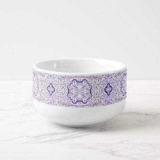 Arbella lila Muster-Wasserfarbe-Suppen-Tasse Große Suppentasse