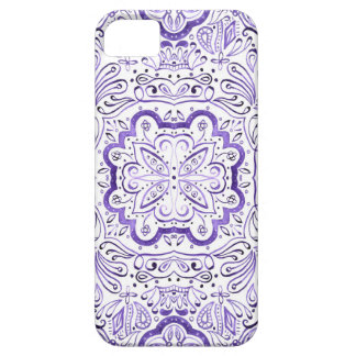 Arbella lila Wasserfarbe-Muster-Telefon-Kasten iPhone 5 Etui