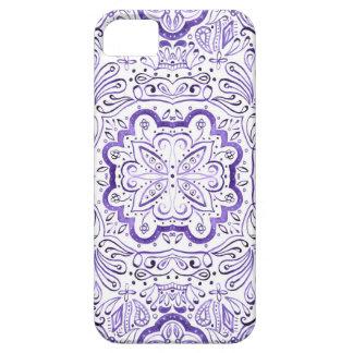Arbella lila Wasserfarbe-Muster-Telefon-Kasten iPhone 5 Hülle