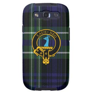 Arbuthnott schottisches Wappen und Tartan S3 rufen Galaxy S3 Etui