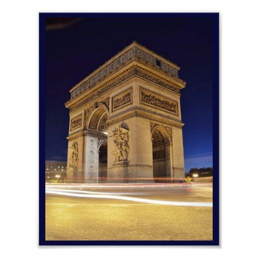 Arc de Triomphede l'Étoile im Paris-Nachtschuß