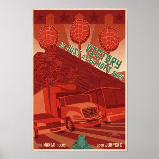 Arcade-Spielpropagandaplakat drittes in einer Poster