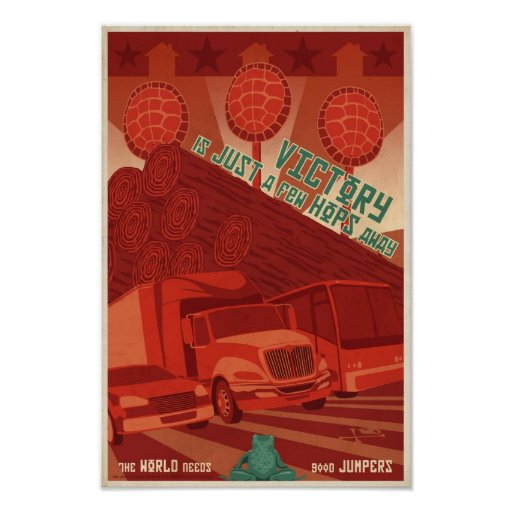 Arcade-Spielpropagandaplakat drittes in einer Reih Plakatdruck