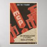 Arcade-Spielpropagandaplakat fünftes in einer Reih Plakate