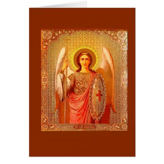 ARCHANGEL MICHAEL - VINTAGE CHRISTMAS CARD KARTE