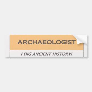 Archäologe Autoaufkleber