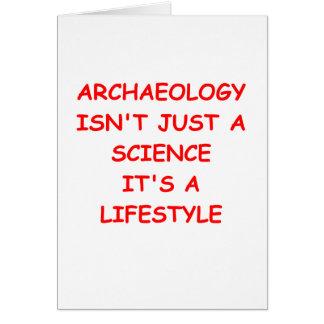 Archäologie Grußkarte
