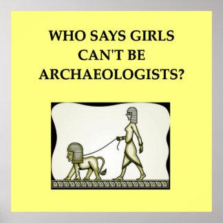 Archäologie Posterdruck