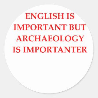 Archäologie Runder Aufkleber