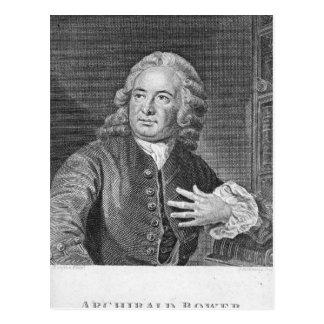 Archibald Bower, graviert von J. Hollonray Postkarte