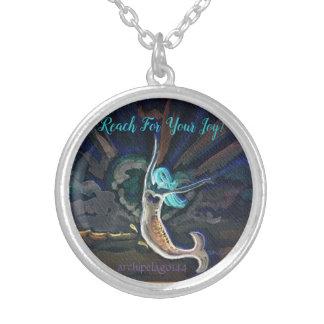 Archipelago144 erleuchtete Meerjungfrau-Halskette Versilberte Kette