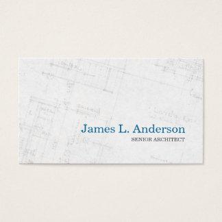 Architekt - Grundriss-Visitenkarte Visitenkarte