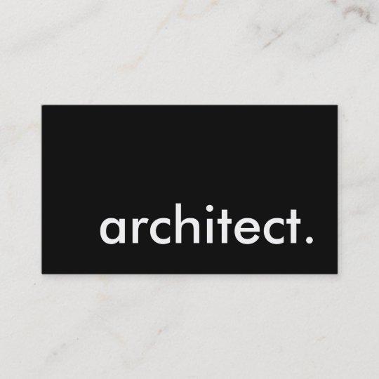 Architekt Visitenkarte Zazzle De