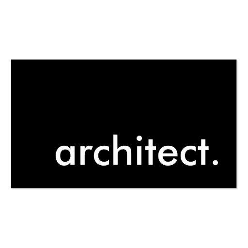 Architekt Visitenkarten Vorlagen