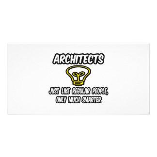 Architekten-… regelmäßige Leute, nur intelligenter Foto Karte