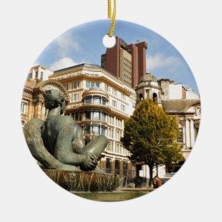 Architektur in Birmingham, England Rundes Keramik Ornament