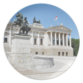Architektur in Wien, Österreich Melaminteller
