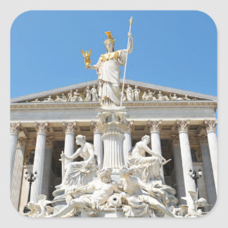 Architektur in Wien, Österreich Quadratischer Aufkleber