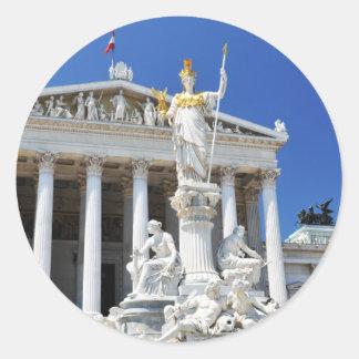 Architektur in Wien, Österreich Runder Aufkleber