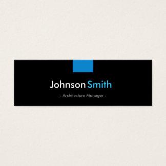 Architektur-Manager - Aqua-blauer Vertrag Mini Visitenkarte