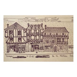 Architektur-Rue-St. Mathieu | Quimper, Bretagne Holzwanddeko