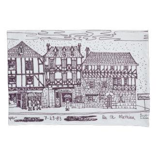 Architektur-Rue-St. Mathieu | Quimper, Bretagne Kissen Bezug