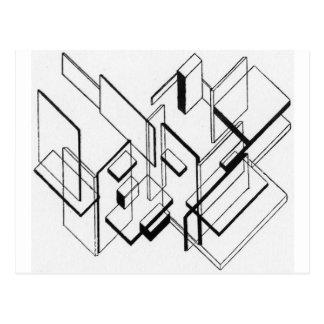Architekturanalyse nach Theo van Doesburg Postkarte